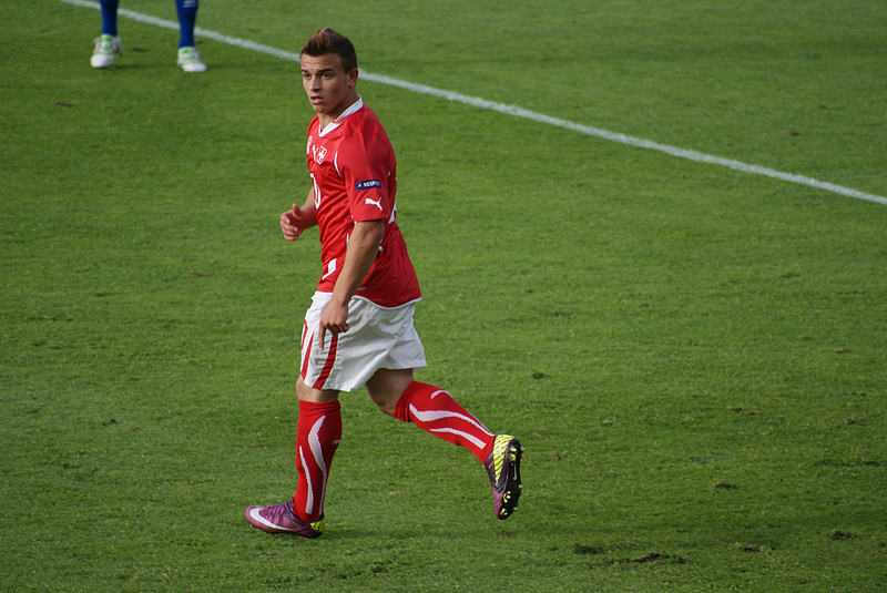 Xherdan Shaqiri, calciatore albanese, naturalizzato in Svizzera