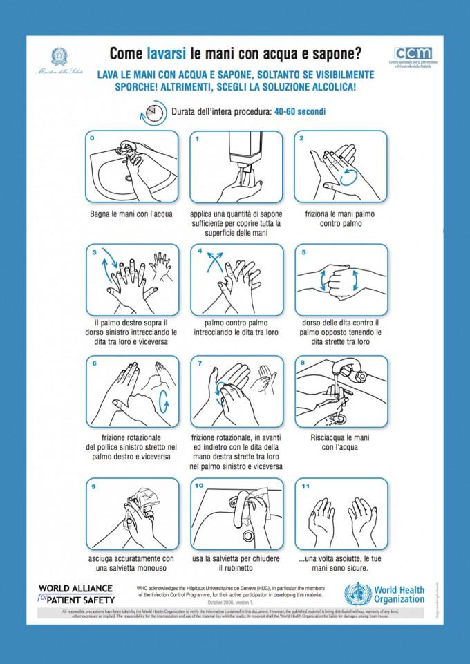 Ecco il modo migliore di lavarsi le mani. Lo dice la scienza