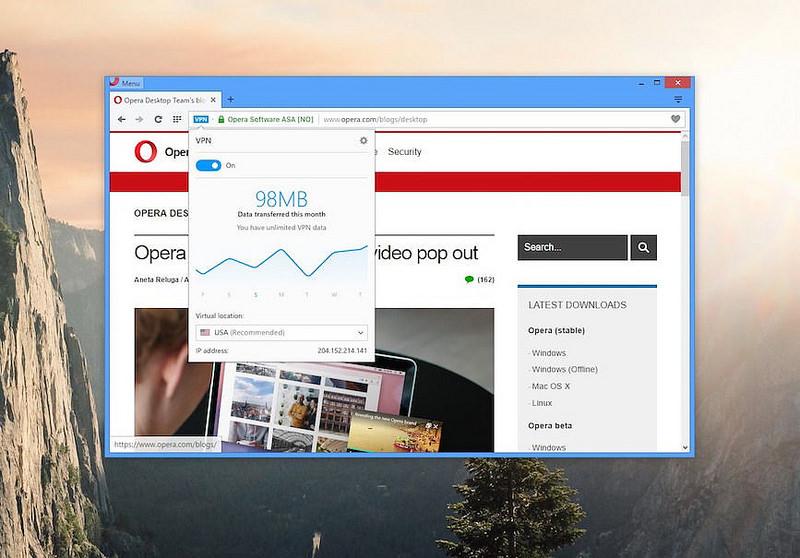 Navigare anonimo sul web, il browser Opera vi regala una VPN