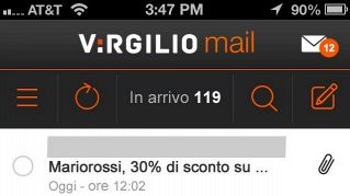 Virgilio Mail, come usare la mail di Virgilio da iPhone