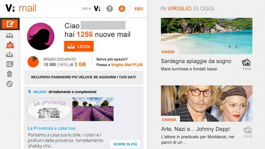 Virgilio Mail, come usare la mail di Virgilio da Android