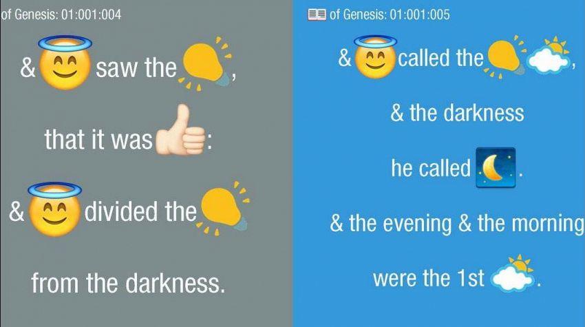 Il vangelo secondo le emoji, arriva la Bibbia con le faccine