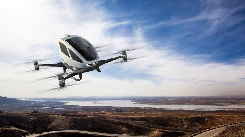 Il drone taxi cinese inizia le prove di volo in USA
