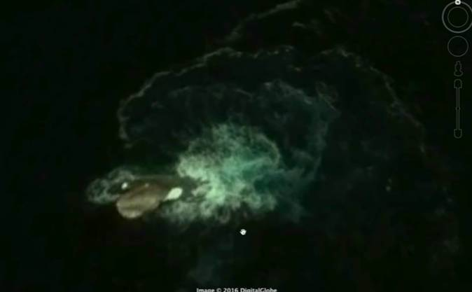 Mostro marino di 120 metri avvistato in Google Earth