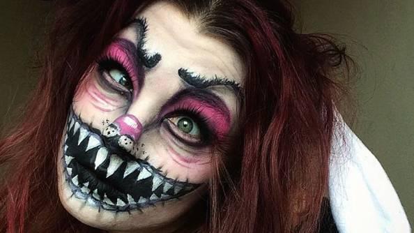 Trucco horror, una giovane artista crea make-up da incubo