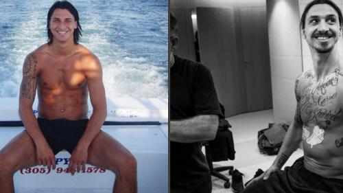 I tatuaggi di Zlatan Ibrahimovic sono scomparsi, ecco il motivo.