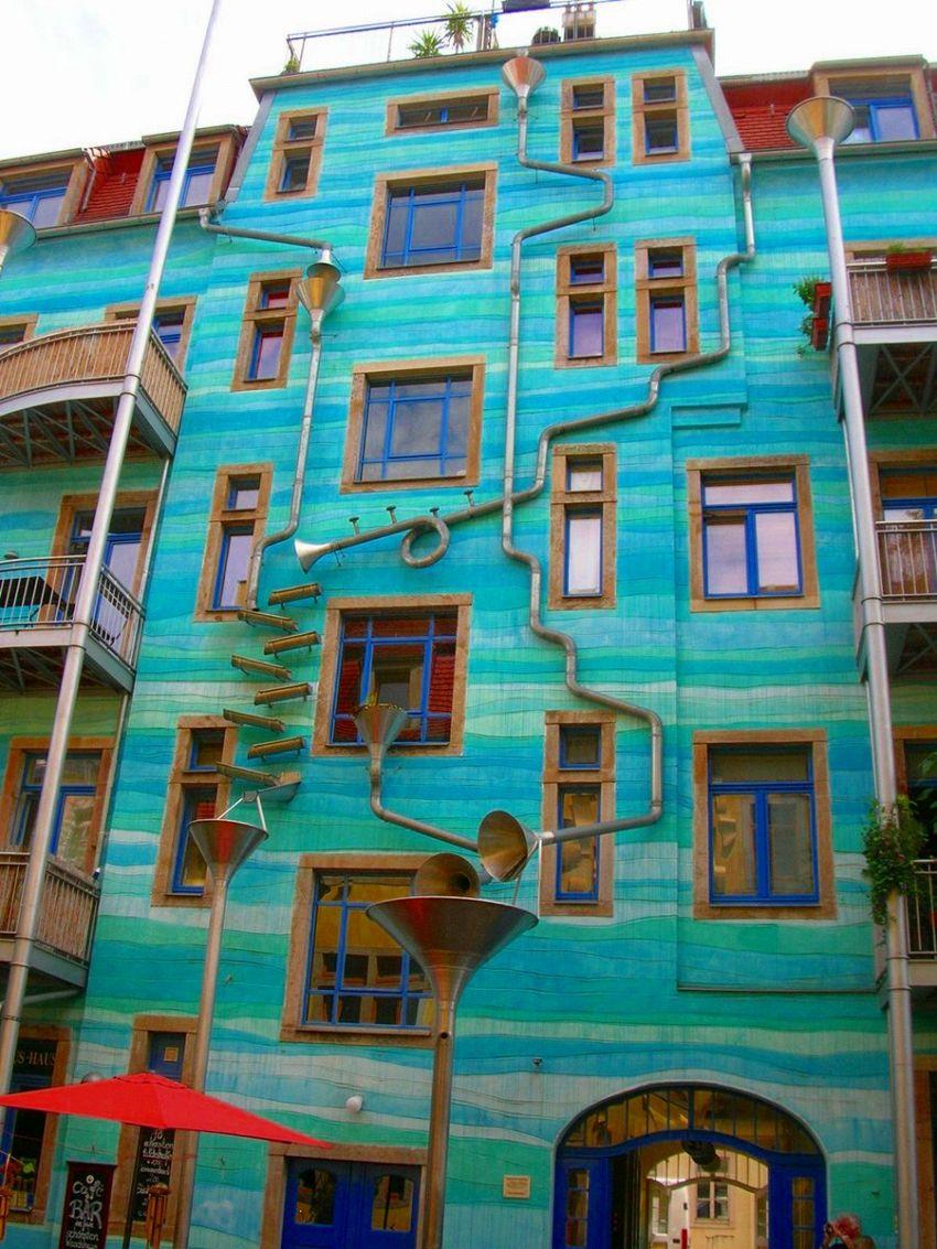 A Dresda c'è una casa che suona quando piove