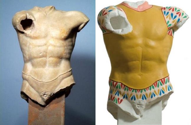 10 statue classiche come apparivano ai loro tempi, a colori