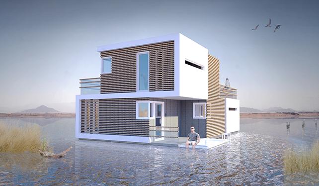 Questa casa galleggiante per sposini si divide in due, dopo il divorzio
