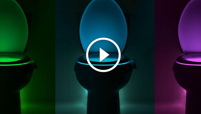 IllumiBowl: la luce colorata che rivoluziona l'aspetto del water