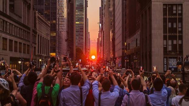 Manhattan henge, quando il sole tramonta a New York