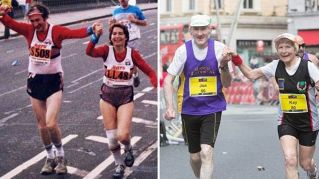 A 80 anni, corrono ultima maratona mano nella mano