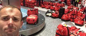 Gli atleti inglesi di rientro dalle Olimpiadi hanno avuto qualche problema in aeroporto