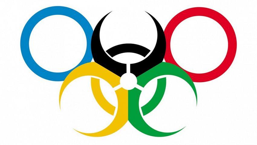 Il logo delle Olimpiadi in Brasile, corretto per evidenziare i rischi per la salute