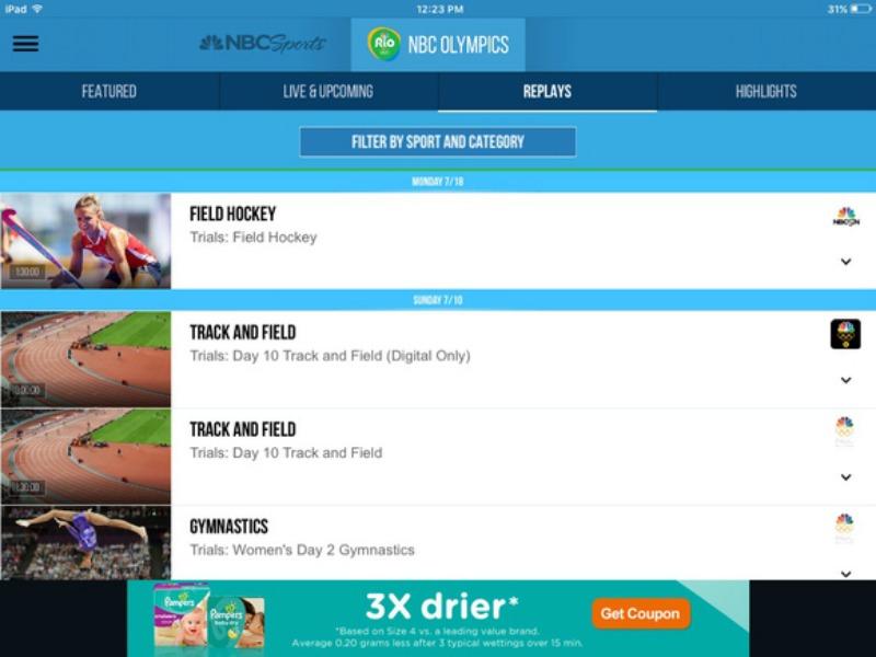 Le migliori applicazioni second screen per seguire le Olimpiadi 2016