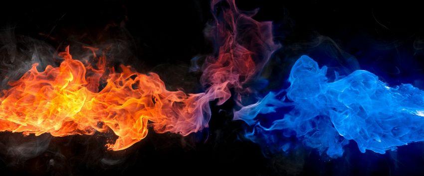 Cosa succede quando una palla di fuoco incontra un raggio congelante?