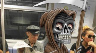 Ritocca le foto di sconosciuti in metro. Il risultato è stupendo