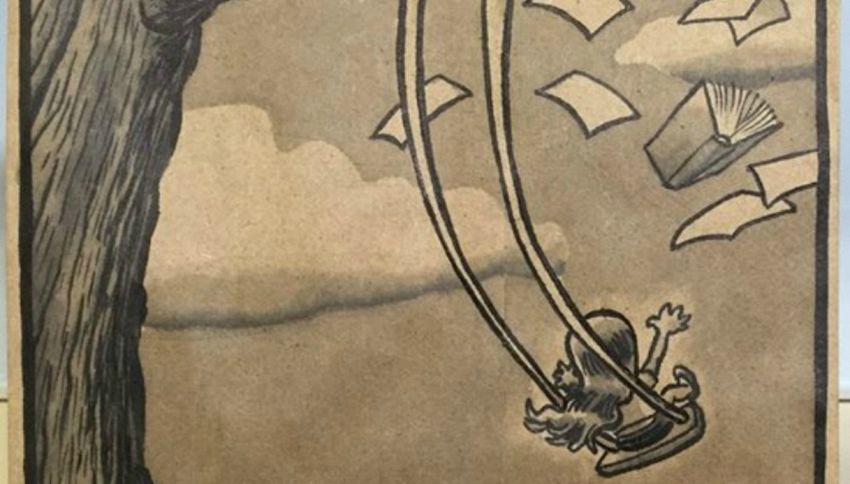 Fumettista e papà, disegna su centinaia di sacchetti della merenda della figlia