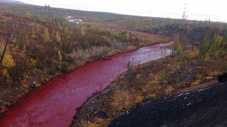 Come nelle piaghe d'Egitto, il fiume che diventa rosso sangue