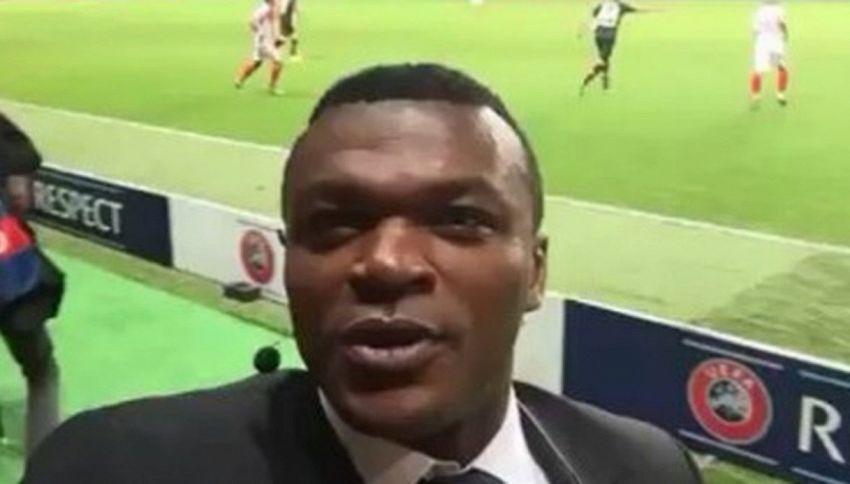 Desailly e il gol in diretta: l'esultanza è incontenibile