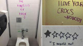 Le frasi di saggezza più belle raccolte nei bagni pubblici