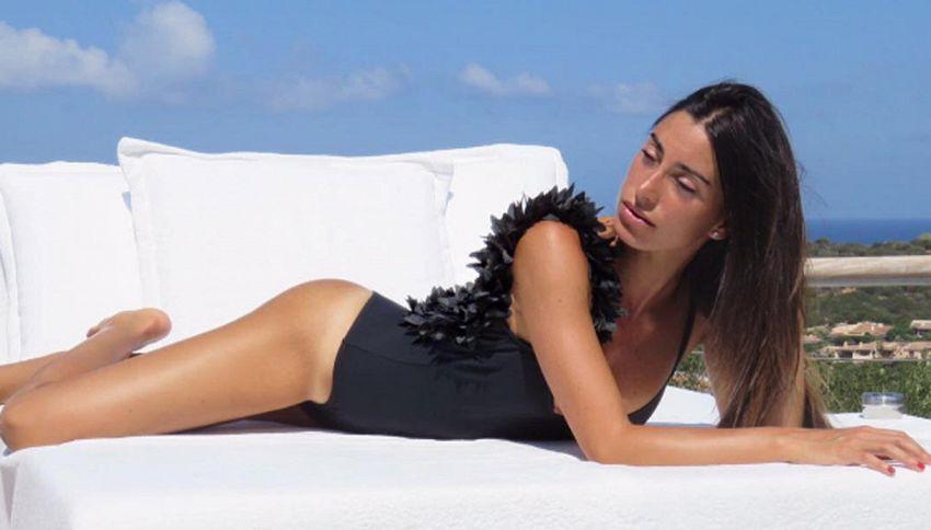 Giorgia Gabriele, la fidanzata di Gianluca Vacchi, stilista alla MFW