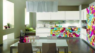 Rivestire la cucina con il design sulle ante. Idee veramente geniali