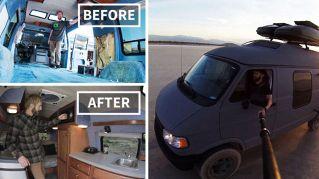 Trasforma il furgone della nonna in un camper e gira il mondo per 2 anni