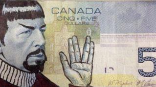 Il Canada ha un problema con le banconote da 5 dollari e Mr Spock