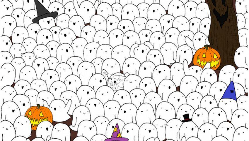 Chi vede l'orsetto tra i fantasmi di Halloween?