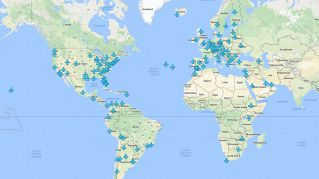 Le password wi-fi di tutti gli aeroporti del mondo in una mappa