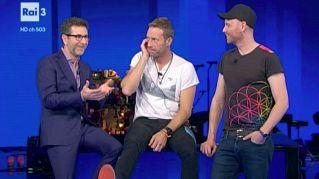 """I Coldplay da Fazio parlano del concerto di Milano: """"Non vediamo l'ora"""""""