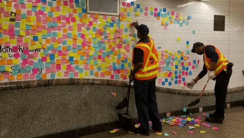 L'amore è a New York: migliaia di frasi romantiche nella metro della grande mela