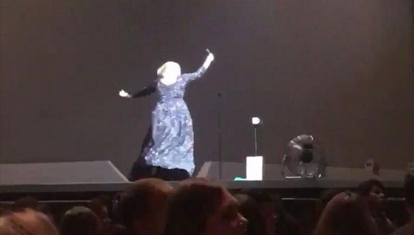 Un pipistrello terrorizza Adele durante il concerto: il video è virale
