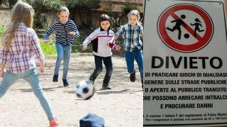 In Italia troppi divieti di gioco all'aperto: la campagna per abolirli