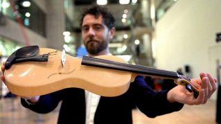 Violino in seta di ragno: Luca premiato a Londra, vince 10mila sterline