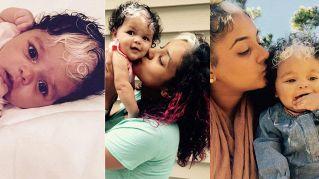 L'incredibile bimba di 18 mesi nata coi capelli bianchi, come sua mamma