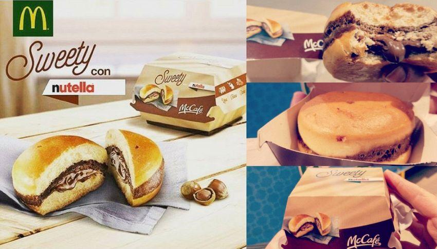 Arriva Sweety, il nuovo panino alla Nutella di McDonald's