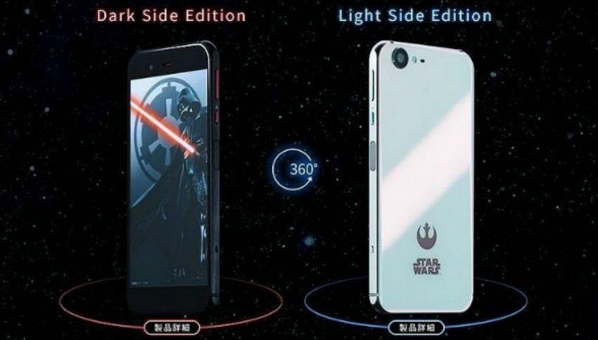 Arriva lo smartphone di Star Wars, in versione chiara e oscura