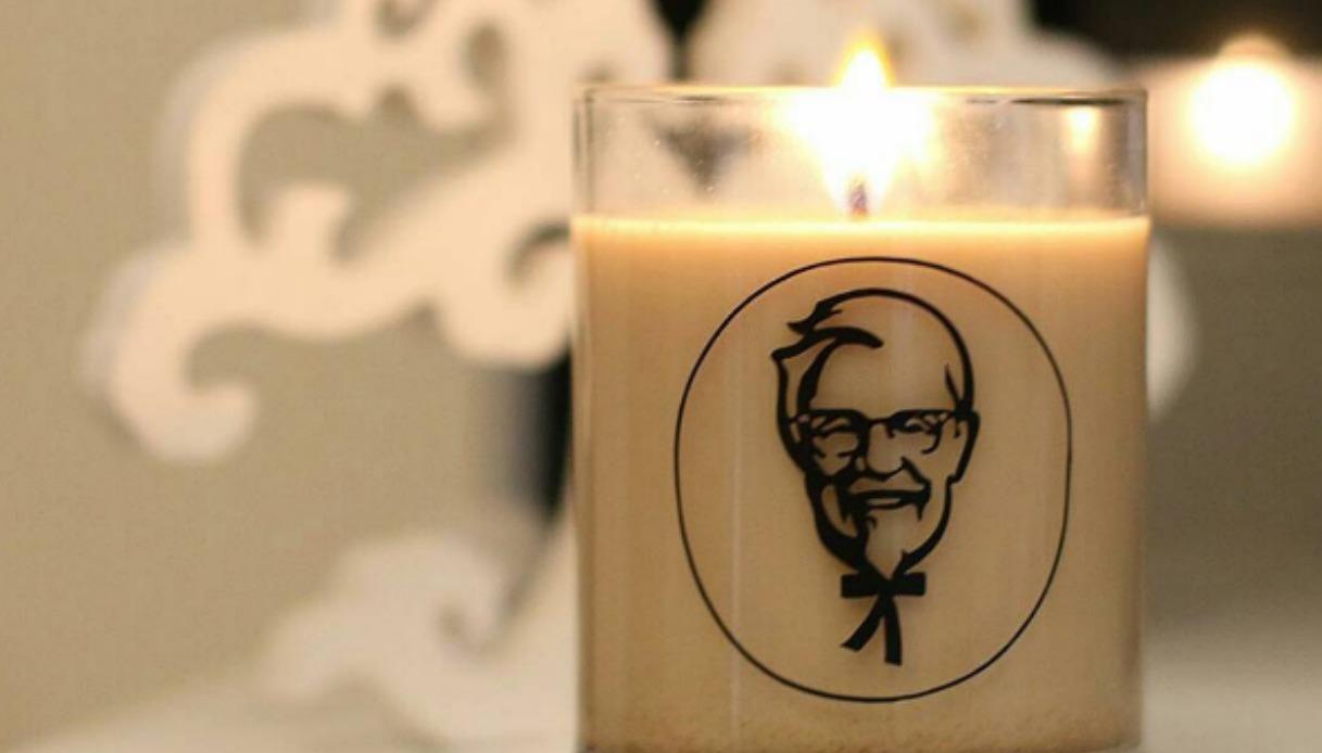 KFC presenta la candela con fragranza ali di pollo fritte