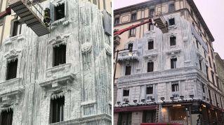 Svelato il mistero del palazzo di ghiaccio a Milano
