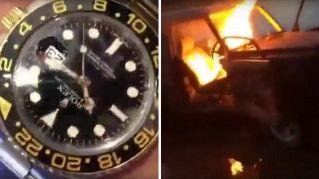 Brucia il SUV e getta il Rolex nel WC: follie da richkids