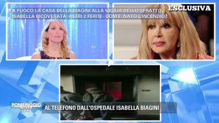 Isabella Biagini ha dato fuoco al suo appartamento: la sua verità