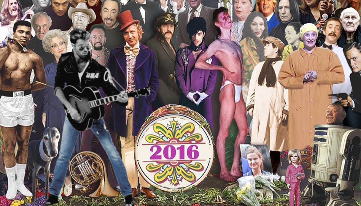 Da Bowie a George Michael, la 'cover' delle star morte nel 2016