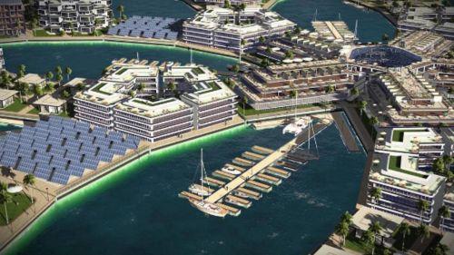 La città galleggiante nella Polinesia Francese