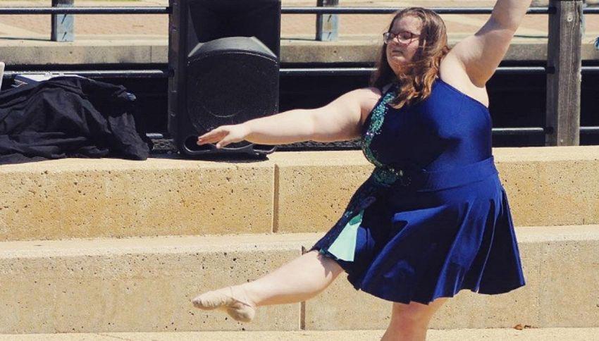 Lizzy, la ballerina sovrappeso che sfida i pregiudizi