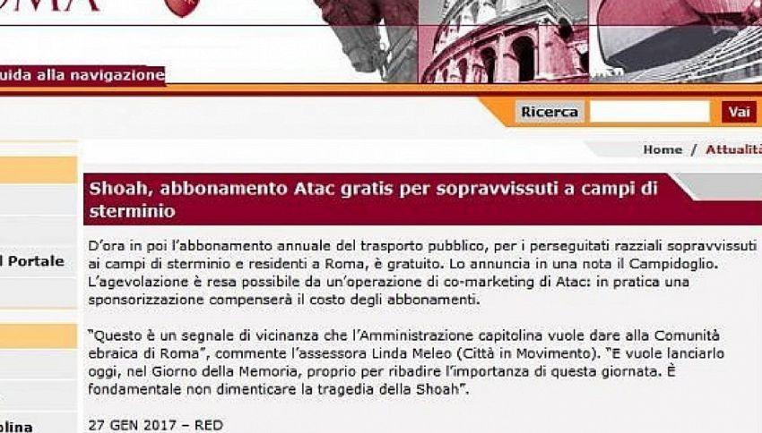 Roma, deportati Shoah gratis su bus, ma sono 10 e già esentati