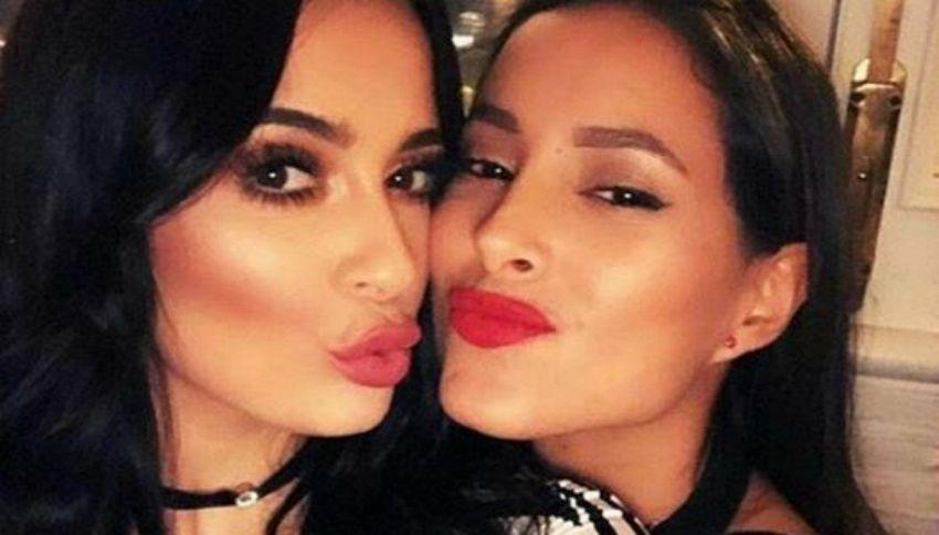 Bacio saffico fra Alessia Macari e Mariana Rodriguez