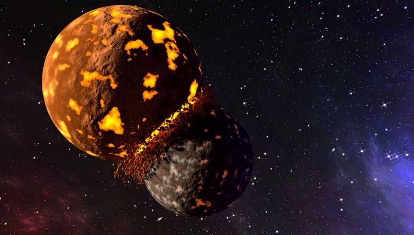 La Terra e la Luna sono in rotta di collisione
