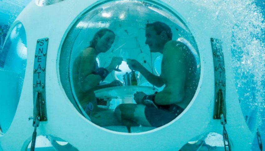 Il ristorante più romantico si trova sotto 5 metri d'acqua